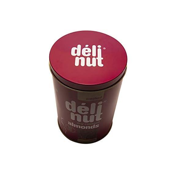 Delinut Premium Smoked Almonds 400 GMS TIN