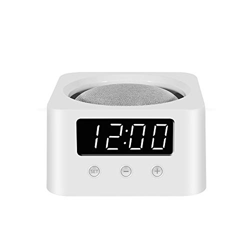 Clock Stand for Smart Speakers - White