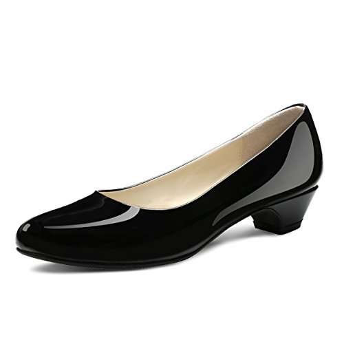 Eufancy Women's Closed Round Toe Prim Dress Pump (7 B(M) US, Black)