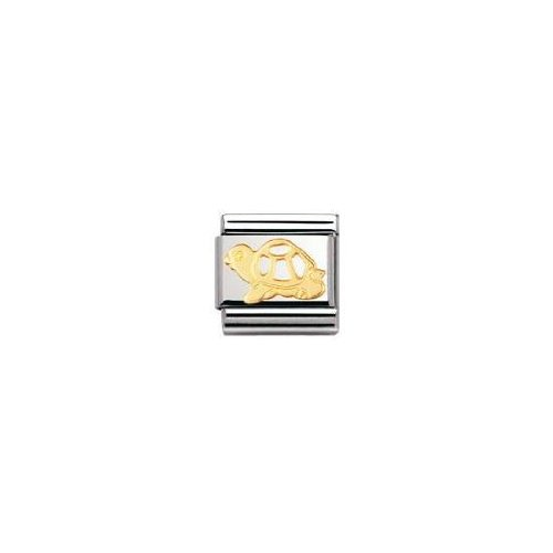 Maillon pour bracelet composable Mixte 030112 Nomination Acier inoxydable et Or jaune 18 cts