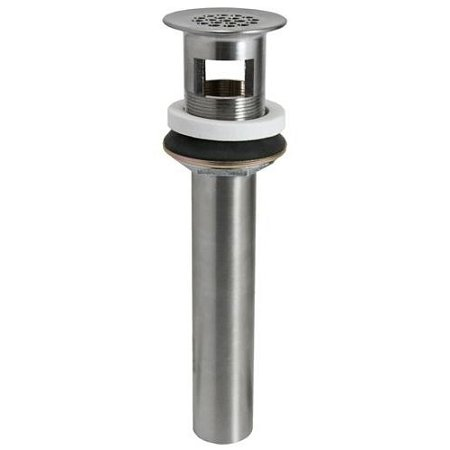 Mountain Plumbing Lavatory - Mountain Plumbing 730BRN Lavatory Grid Drain with Overflow, Brushed Nickel