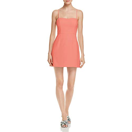 French Connection Women's Whisper Light Sleeveless Strappy Stretch Mini Dress, Coral Sands Sweet, 6