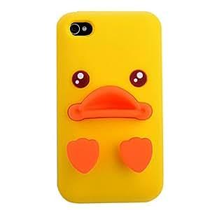 CL - Pato Amarillo Funda de silicona para el iPhone 4/4S (colores surtidos) , Amarillo