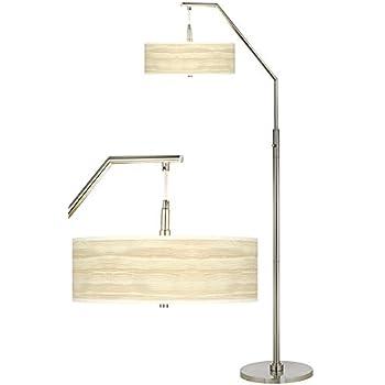 Birch Blonde Giclee Shade Arc Floor Lamp Amazon Com