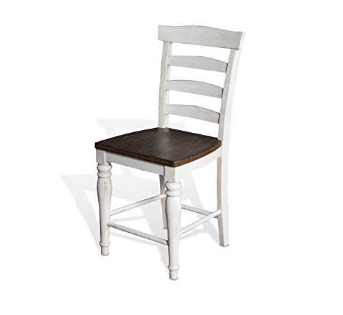 Sunny Designs Bourbon County Ladderback Stool French Country ()