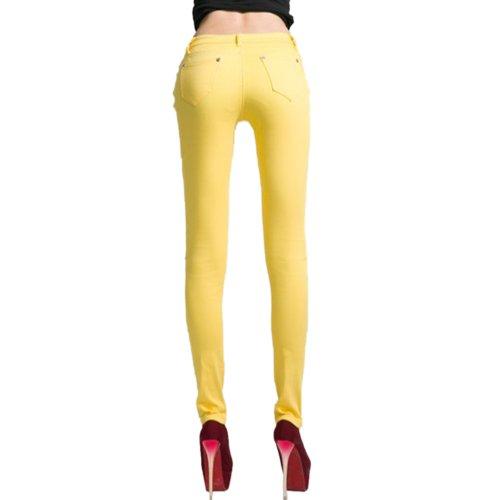 Jeans Jaune Femme Slim Grand Hee B7Uq0OwB