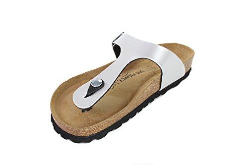 Silver N Rio JOE Softbedded Sandals Slippers JOYCE Footbed SynSoft Metallic Metallic Women Soft Uw4fqPd