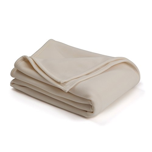 The Original Vellux Blanket - Full/Queen, Soft, Warm, Insulated, Pet-Friendly, Home Bed & Sofa - Ivory