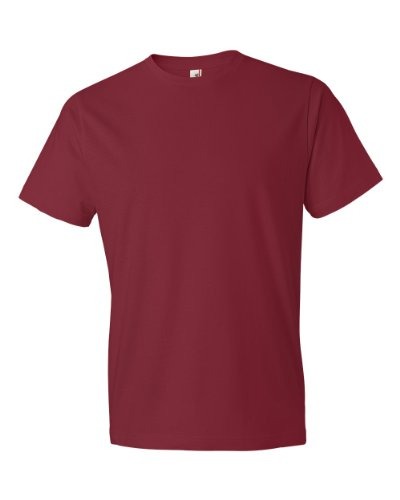 Anvil Mens Lightweight Tee  Independence Red  Small
