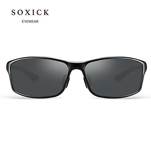1 Lens sol Black Soxick Frame para Black Gafas de hombre zqx8aBx