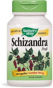 Nature's Way Schizandra Fruit, 100 Capsules  (Pack of 2)