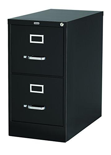 Staples Vertical File Cabinet, 26-1/2″, 2- Drawer, Letter Size, Black