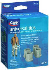 Carex Universal Tips, Set of 4, Pack of 3 by Carex Health Brands