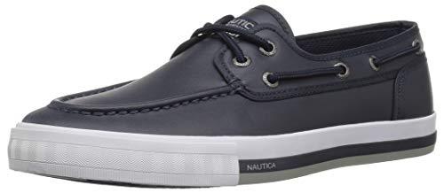 Nautica Men's Spinnaker Boat Shoe True Navy Smooth 9.5 Medium US