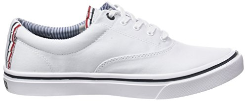 Textile Sneaker Zapatillas Blanco White 100 Mujer para Tommy Light Weight Hilfiger xIq5X15
