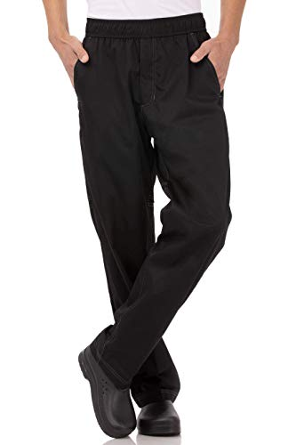 Chef Works Men's Cool Vent Baggy Chef Pants, Black, Large from Chef Works