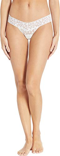 (Hanky Panky Women's Cosmic Lace Low Rise Thong White One Size)