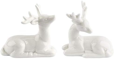 Figuras decorativas, ciervo, varios diseños, 2 unidades