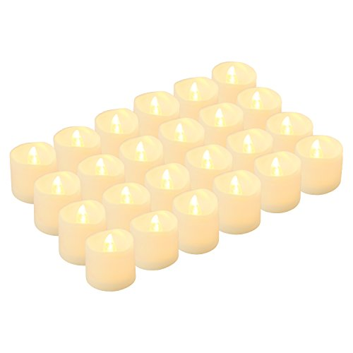 LED Tea Lights Candles, Kohree Flameless Candles Battery Operated LED Candles, Flickering Tealight Candles, Warm White, Pack of 24 (Choice Stand Candle)