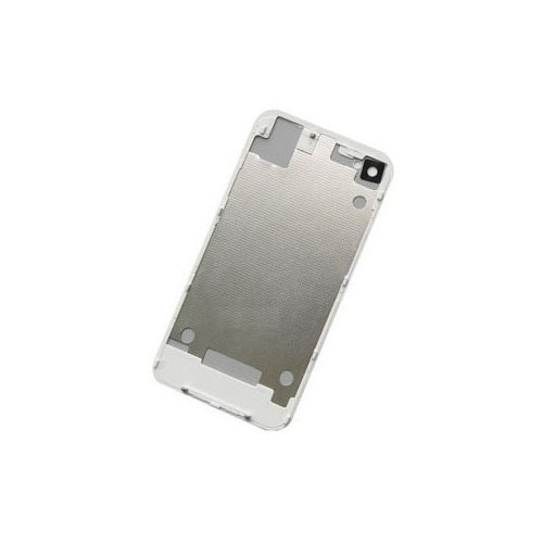 PS Replacement Back Cover Housing with Flash Diffuser, Interior Frame, Glass Battery Door for iPhone 4 AT&T GSM - White