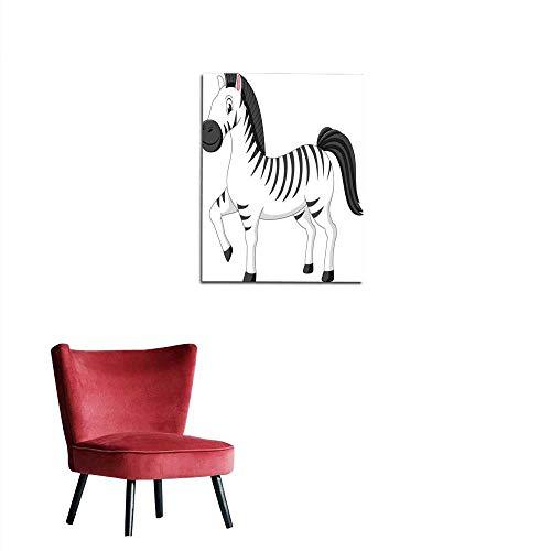 longbuyer Wall Sticker Decals Zebra () Mural 24