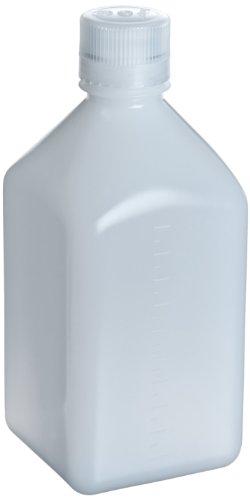 Nalgene 2018-0060 Square Bottle, HDPE, 60mL (Pack of 12)