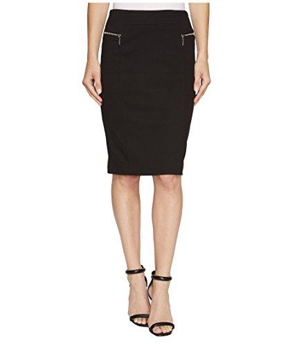 MICHAEL Michael Kors Womens Ponte Knee Length Pencil Skirt Black - Michael Returns Kors