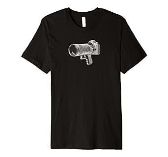 Mens Camera Gun T-Shirt 2XL Black