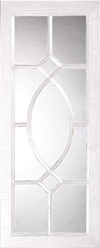 Wall Mirror Howard Elliott Dayton Rectangular Frame White Black Resin Ne