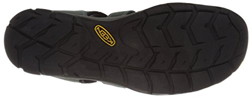 Keen Women's Clearwater CNX Leather Sandal Mineral Blue/Yellow 05boqSi2Mf