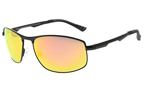 81eaf33a24 Eyekepper Lunettes de soleil Metal monture verres en Polycarbonate verres  Polarisees lunettes soleil pour hommes femmes
