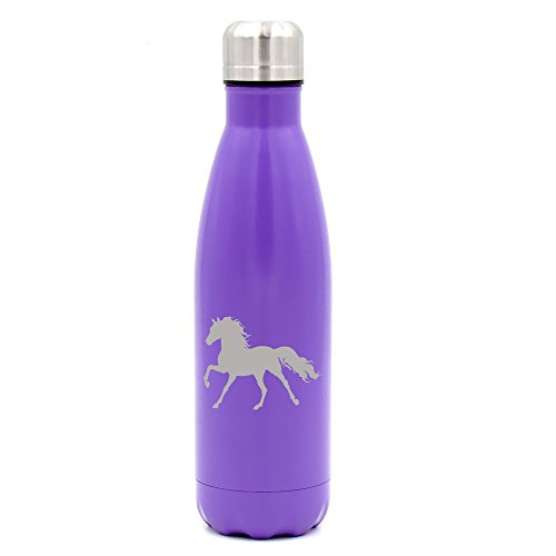 17 oz. Double Wall Vacuum Insulated Stainless Steel Water Bottle Travel Mug Cup Horse (Horse Travel Mugs)