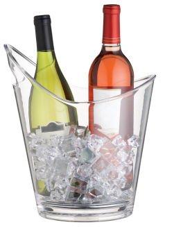 'vino Curvo' Clear Acrylic Wine Cooler