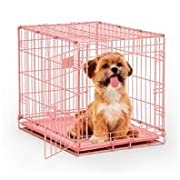 MidWest Single Door Dog iCrate 24-Inch Pink