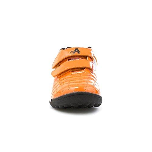 Ascot Kids Orange doppeltem Klettverschluss Astroturf Trainer, Orange - orange - Größe: 31 EU Kinder