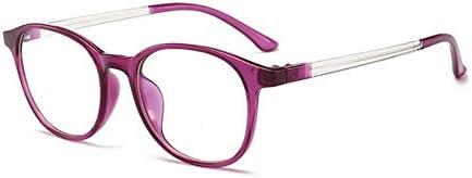 Miwaimao おしゃれメガネ,コンピュータグラスアンチブルーレイゲーミンググラスレディースメンズブルーライトブロッキングレンズ光学フレーム、紫