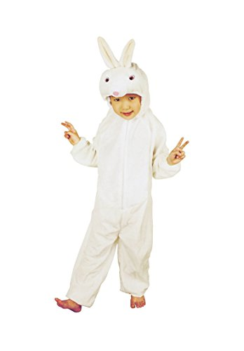 RoarSoar Pretend Play Small Rabbit Costume (Age 7 to 8 Years), Large, One Color (Kids Rabbit Costume)