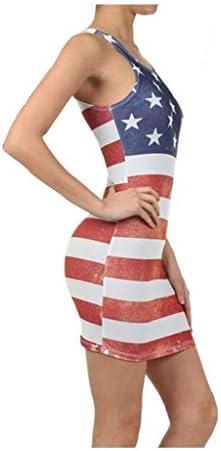 [해외]wodceeke 여성용 새로운 미국 국기 프린트 탱크 드레스 여름 O넥 슬림핏 미니 캐주얼 비치 미니 드레스 / wodceeke 여성용 새로운 미국 국기 프린트 탱크 드레스 여름 O넥 슬림핏 미니 캐주얼 비치 미니 드레스
