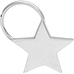 monde éblouissant Star Design 925 Sterling Silver White Nose Pin for Women