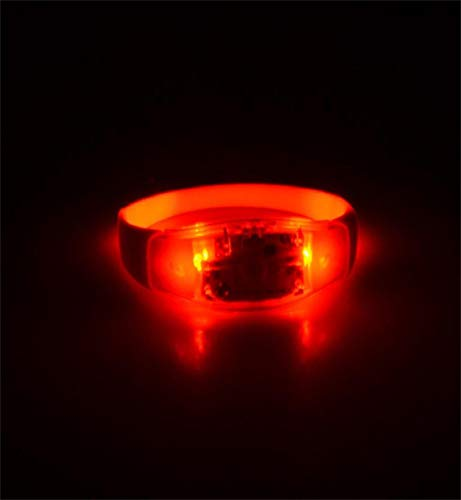 Clearance Sale!DEESEE(TM)Voice Activated Sound Control Led Flashing Bracelet Bangle Wristband for Night Club Party (Red)