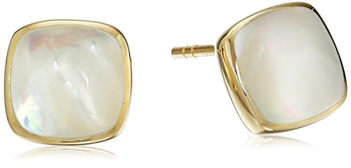 Gold Plated Sterling Silver Cushion Earrings