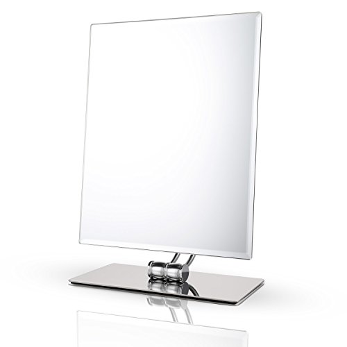 Superior Large Makeup Vanity Mirror With Lights Tabletop Rectangle Chrome Bathroom  Battery
