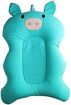 Coj/ín antideslizante para asiento de ba/ño de beb/é 22.05 x 14.57 in Verde apto para beb/és de 0 a 6 meses FGASAD