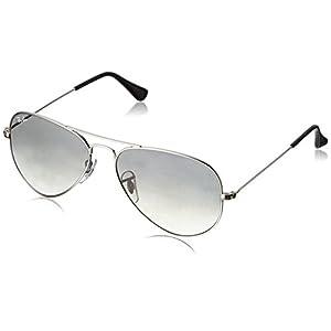 Ray-Ban Aviator Classic, Silver/ Crystal Grey Gradient, 55 mm