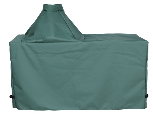 "Cowley Canyon Brand Large Ceramic Egg Type Kamado Table Cover, 60""L-27""W-31""H. Fits Large Big Green Egg, Kamado Joe Classic and others. -  Cowley Canyon Sales, BGELT10"