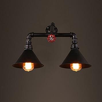 Wcui Retro Wasser Rohr Wand Lampe Loft Industrie Eisen Wand Lampe