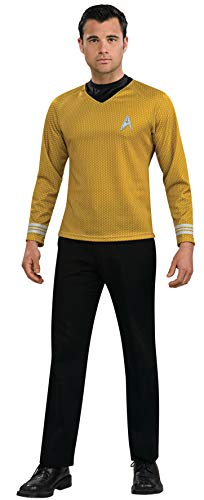 Rubie's Star Trek Gold Star Fleet Uniform Shirt, Gold, X-Large Costume
