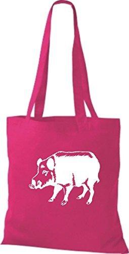 Cloth Pig Bag Fuchsia Shirtstown Bristle Boar Animals Pig ZtdtOqwT
