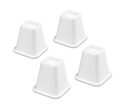 Whitmor Bed Risers White Set of - Bed White Riser