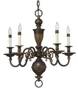 Hinkley 4415OB Traditional Five Light Foyer from Cambridge collection in (Traditional Foyer Lights Hinkley Lighting)